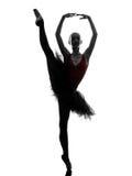 Танцы танцора балета балерины молодой женщины Стоковые Фото