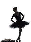 Танцы танцора балета балерины молодой женщины Стоковая Фотография