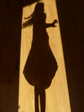 Танцы тени Стоковое фото RF