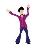 танцы человека Стоковая Фотография RF
