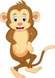 Танцы шаржа обезьяны иллюстрация вектора
