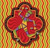 Танцы шута масленицы. EPS10 Стоковое Фото