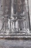 Танцы Apsaras в виске Angkor Wat, Камбодже Стоковые Фото