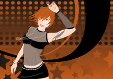 танцы girl2 Стоковая Фотография RF
