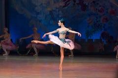 Танцы Katerina Kukhar артиста балета во время балета Corsar Стоковая Фотография RF