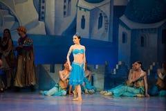 Танцы Katerina Kukhar артиста балета во время балета Corsar Стоковое Фото