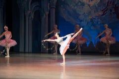 Танцы Katerina Kukhar артиста балета во время балета Corsar Стоковые Фото