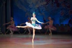 Танцы Katerina Kukhar артиста балета во время балета Corsar Стоковое Изображение