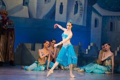 Танцы Katerina Kukhar артиста балета во время балета Corsar Стоковая Фотография