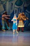 Танцы Katerina Kukhar артиста балета во время балета Corsar Стоковые Фотографии RF