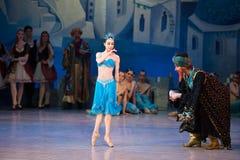 Танцы Katerina Kukhar артиста балета во время балета Corsar Стоковые Изображения RF