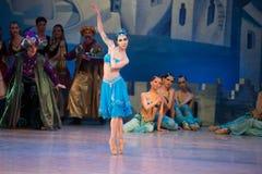 Танцы Katerina Kukhar артиста балета во время балета Corsar Стоковое фото RF