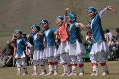 Танцы Mogolian Стоковые Изображения RF
