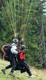 Тандемный парашютировать Стоковые Фото