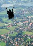 Тандемный парашютировать Стоковая Фотография