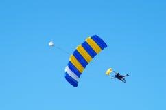 Тандемный skydiving Стоковое Изображение RF