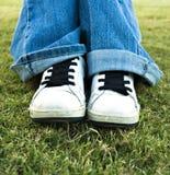 тапки джинсыов Стоковые Фото