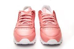 Тапки спорт кожаные свободный тип классицистическо Способ Розовый стоковое фото