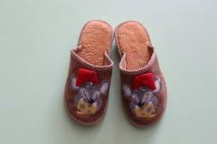 Тапочки младенца с mouses Стоковые Изображения