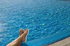 тапочки ног пляжа Стоковая Фотография RF