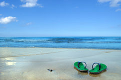 тапочки пляжа стоковые изображения