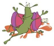 Таракан и шарж аэрозольного баллона Стоковые Фото