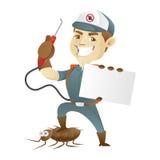 Таракан убийства обслуживания службы борьбы с грызунами и паразитами и визитная карточка удерживания Стоковое Фото