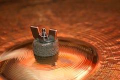 тарелка барабанит ручкой Стоковое Изображение
