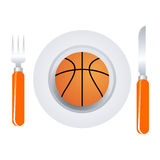 тарелка баскетбола иллюстрация вектора