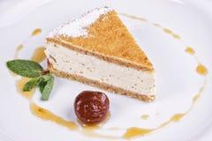 Тарелка десерта ресторана Стоковая Фотография
