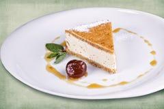 Тарелка десерта ресторана Стоковая Фотография RF