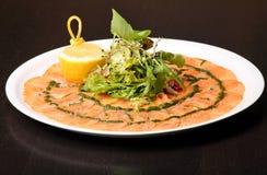 тарелка итальянский s carpaccio Стоковое Изображение