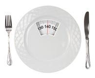 Тарелка маштаба веса Стоковая Фотография