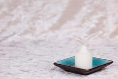 тарелка свечки Стоковая Фотография RF