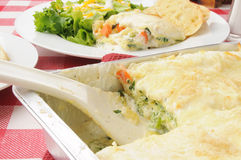 Тарелка сервировки vegetable lasagna Стоковое Фото