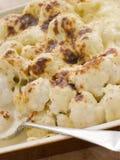 тарелка сыра cauliflower Стоковые Изображения RF