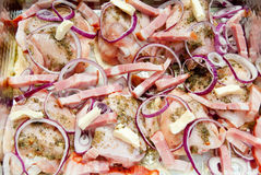 тарелка цыпленка бекона Стоковое Изображение