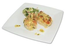 тарелка цыпленка Стоковые Фотографии RF