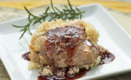 тарелка цыпленка Стоковое Фото