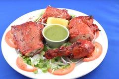 тарелка цыпленка Стоковое фото RF