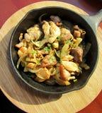 Тарелка цыпленка Стоковое Изображение RF