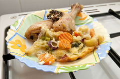 тарелка цыпленка Стоковые Изображения RF