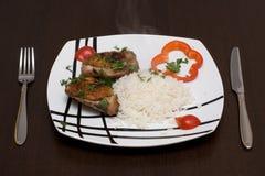 тарелка цыпленка Стоковая Фотография RF