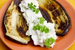 тарелка aubergine Стоковое фото RF
