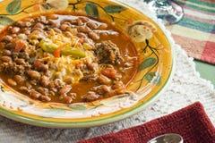 тарелка chili цветастая Стоковая Фотография RF