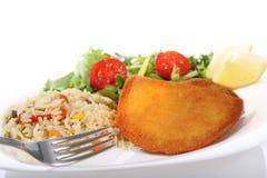 Тарелка rissoles мяса на белизне Стоковое Изображение RF