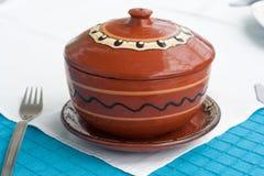 тарелка s глины Стоковое Фото