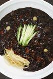 Тарелки лапши в корейской кухне Стоковое Изображение