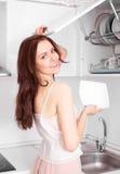 тарелки моя женщину Стоковые Изображения RF