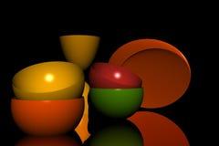 тарелки Стоковое Изображение